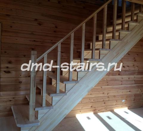 Одномаршевые деревянные лестницы