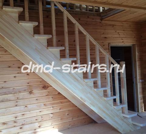 Деревянные лестницы эконом класса